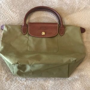 Authentic Long champ Le Pillage bag in army green